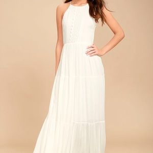 For life white embroidered maxi dress